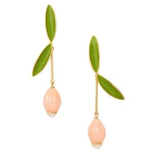 KATE SPADE • Coral Best Buds Linear Earrings